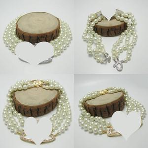 Mehrschichtiges Perlen-Kette Orbit Halskette Frauen Mode Strass Satelliten Kurze Halskette für Geschenk-Partei-Qualitäts-Schmuck