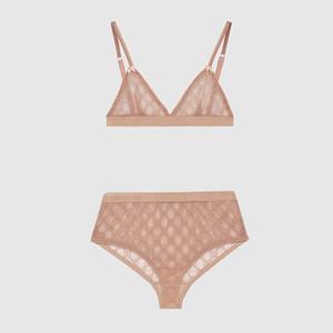 Ultimo merletto bikini sexy classico semplice lettera Bra Set morbida traspirante Lingerie per le donne 2 colori