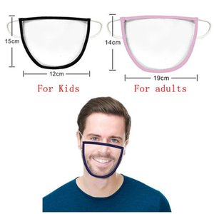 Lip Language Mask Deaf-mute People Lip Language Transparent Mask For Kids And Adult PET Masks Dust-Proof Hanging Ear Masks CCA12475