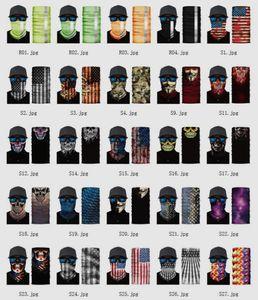 US-Lager-Sport-Ansatz Schädel Fahrrad Angeln magischer Schal Bandanas Schild Gesichtsmaske Stirnband Bandana Kopfbedeckung Ring Schal Fahrrad Balaclava