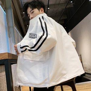 Primavera e no Outono z1pHB solta jaqueta estilo coreano dos homens macacões e calças juventude coat macacão de meia-idade lazer ao ar livre sp dos homens casaco