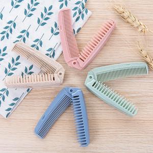 Portable Folding Comb Hair Brush Anti-static Combs Travel Hair Brush Wheat straw Folding Hairdressing Styling Tool