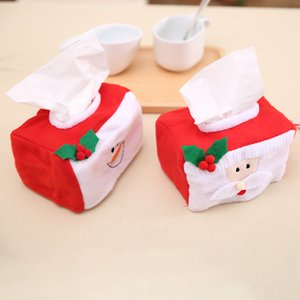 2pcs Santa Claus Snowman tissue box cover Christmas Style Tissue Box Durable Napkin Holder Gadget Christmas Decoration For Home