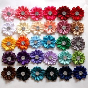 High quality satin small pointed angle ribbon flower plus diamond hand-sewing Accessories earrings diamond earrings small flower hair access