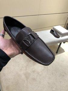 2020 de los hombres zapatos casuales de cuero, salvajes moda, zapatos casuales, zapatos de vestir de los hombres, con la caja