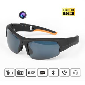 Bluetooth Headset cámara gafas de sol con una función de memoria de 16 GB 32 GB HD 1080P Reproductor de MP3 Bluetooth de grabador de vídeo DV DVR Deportes