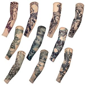New Fashion Tattoo mangas braço Warmer Unisex Proteção UV Outdoor temporária Falso Tattoo Arm Sleeve Warmer luva Mangas