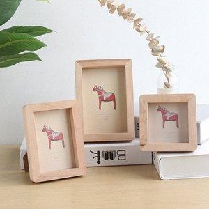 Real de madeira restaurar antigas formas Photo Frame Criatividade Literature and Frame Art Household Decorates desktop parede Pendure Imagem 51Ew #