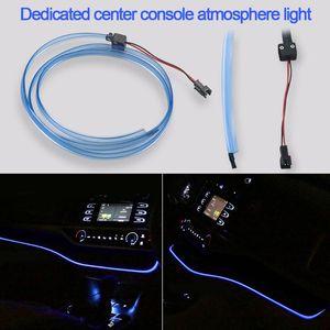 LED Car Console Center Atmosphere Decoration Blue Strip Dashboard Ambient Light For Highlander 2020 2020