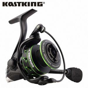 Kastking Eagle Green Super Light Carbon Black Spinning Reel Max Drag 10kg Carrete de pesca para la pesca de Pike Bass con 11 rodamientos de bolas Jnzy #