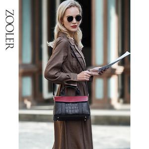 Marca de lujo ZOOLER bolso del cuero genuino del bolso de cuero elegante femeninos bolsas de hombro manera de los bolsos de las mujeres bolsa de asas CK1222