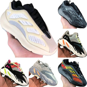 With Box 2020 Azael 700 V3 Static Reflective Kids Mesh Breathable Running Shoe Originals Kanye West 700 V2 Kids Buffer Rubber Jogging Shoe
