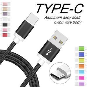 Cgjxs USB ad alta velocità via cavo C Type C cavo di carico del metallo Housing 2a sincronizzazione di dati cavi per Samsung Lg Huawei Cellulari Android