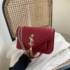 Para mujer Bolsa de Nueva 2020 Spring Fashion Todo-fósforo Rombo Plazoleta Bolsa de Corea-Estilo de hombro bolsa de mensajero de las mujeres
