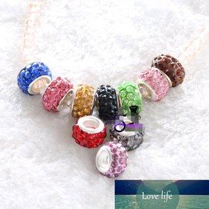 100шт смола Rhinestone свободных шарики 5MM больших отверстия шарики для изготовления браслетов заключений ювелирных изделий Mix оптом