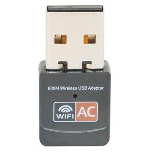 Cgjxs600mbps Usb Wifi adaptateur Dual Band 2 .4g / 5GHz Rtl8811cu carte réseau sans fil Mini 600m Lan Wi -Fi Adaptateurs Ethernet 802 .11ac Recevez