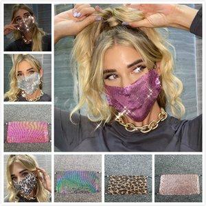 3D Sequin Masken Trendy Bling Strass Gesichtsmaske Jewlery für Frauen Gesicht Körper Schmuck Nachtclub Dekorative Schmuck-Parteischablonen