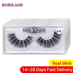 BOBILASH Оптовая Ресницы 5/10/30 пары 3D Mink Lashes Fasle Натуральный мягкий макияж ресниц ручной работы в Bulk