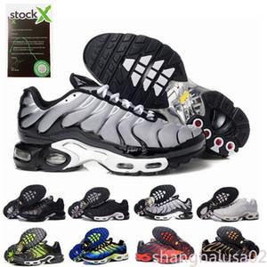 Ayakkabı Koşu TN Artı Siyah Hiper platformu Erkek kadın Yürüyüş Koşu Yürüyüş spor ayakkabı terlik sandalet sh02 yıldızı