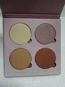 Drop shipping Hot makeup Palette Brand high quality 4color face bronzers & highlighters palette dhl free shipping
