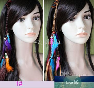 Hotsale Handgemachte Haar-Stirnband Braid Haarschmuck Feder-Verlängerungs-Haar-Clips für Frauen Art und Weise neu 10pcs / lot