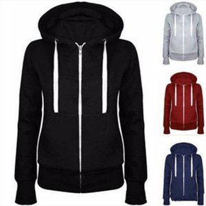Classic Women Hoodies Overcoat New Spring Autumn Zipper Hooded Sweatshirts Hoody Jacket Womens Coat Pockets Outerwear