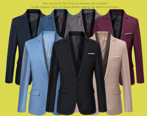 venda quente Men Suit estilo Blazer coreana magro Cardigan Jaqueta Tamanho do casamento S-6XL Super Plus Size 6 cores