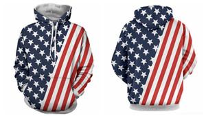 HwowU American Spring jersey vestido de Pareja impreso 3d digital para el suéter de manga larga Sudadera con capucha para hombres traje de bandera pareja