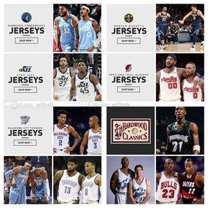 Erkekler Gençlik NBAKuzeybatı BlazersJazzsNuggetsTimberwolvesThunders 0 Lillard Jokic Mitchell Tüm Stil Forma Şort