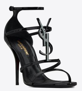 Con la caja de cuero real de Nueva Sexy mujer de los zapatos de verano hebilla de la correa de bambú conjuntos zapatos sandalias de tacón alto punta abierta del solo de alta talones DH