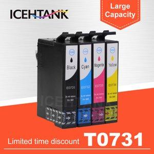 Mürekkep Kartuşları IceTank Uyumlu Kartuş 73N T0731 Stylus CX3900 CX5900 CX4900 CX7300 CX8300 TX200 TX210 C79 C90 Yazıcı