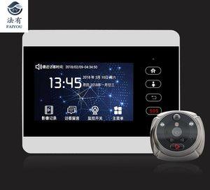 iHome5 WiFi Peephole Door Viewer & Video IP Doorbell 4 Inch Screen IR PIR Door HD Camera Motion Detect Bell Promotion