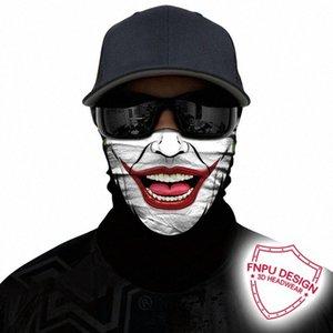 3D 두건 해골 위장 머리띠 사이클링 얼굴 야외 목 버프 조커 익명 넥 게이터 안면 보호구 원활한 두건 xVqd 번호 마스크