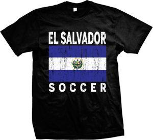 2019 Yeni Geliş Stringer Erkekler Serbest China Post Nakliye El Salvador Sıkıntılı Soccerer Bayrak El Salvador Pridegraphic Tees