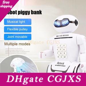 Crianças Toy Alcancia Criativo Eletrônico Poupança brinquedo seguro Robot música Saving Cash Money Box Desk Lamp