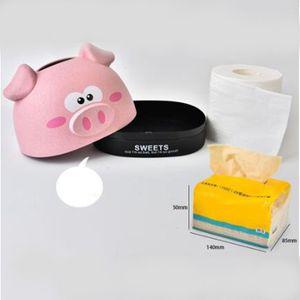 Cute Pig Tissue Box Nordic Rollenpapier-Aufbewahrungsbehälter runde geformte Gewebe Container-Tuch-Serviette-Halter