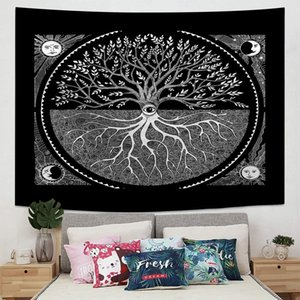 Tapestry Wall Hanging Mandala Psychedelic Star Constellation Galaxy Space Indian Bohemian Boho Hippie Yoga Tapestries Beach Throw Blanket Ho