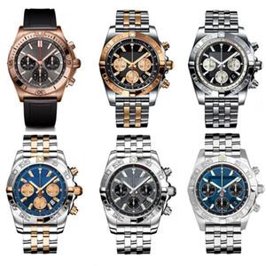 Новые дизайнерские мужские часы Pilot Chronomat B01 Chronograph моды 42мм себя обмотки механическое движение ABO из нержавеющей стали мужчины часы lRUj #