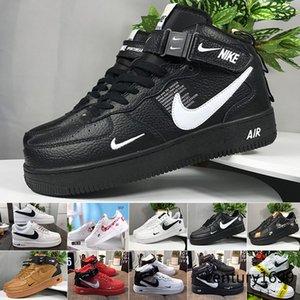 2020 Deri AF1 MANTAR ayakkabı numarası 36-46 JJU5Z Running One New Classical 1 Beyaz Siyah Düşük Yüksek Cut Erkekler Kadınlar Sneakers Paten Ayakkabı dunk