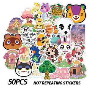 50Pcs Lot Animal Crossing Stickers For Flask Cute Anime Sticker Vinyl Waterproof Cartoon Sticker For Water Bottle, Laptop, Phone Case
