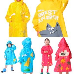 5bRAE Детская водонепроницаемая для мальчиков и прозрачностей ребенка дождевика прозрачного девочек детского сада ребенок дождевика для детей и студентов