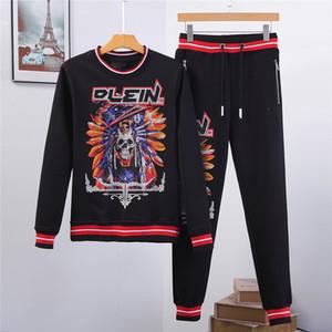 neue, qualitativ hochwertige Männer Pullover Anzug Fashion Hoodie Kühle Schädel Printed Frauen Kurzarm Tops T Lange Hülse Kleidung T-Shirt