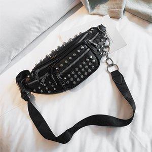 Abay Brand Luxury Women Designer Fashion Belt Women's Shoulder Bags Rivet Girl Crossbody Personality Studded Chest Bag