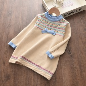 Little Girls Sweater 2020 Kids Dress Winter Children Sweater Tops Kids Dress For Girl Casual Toddler Christmas Dress