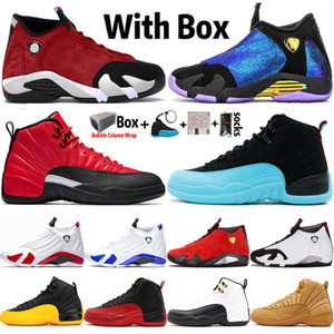 2020 Chegada Nova Sapatos Jumpman 14 14s DB Doernbecher Gym Red Turbo Mens Basketball 12 12s Universidade ouro Playoff Sports Sneakers Tamanho 13