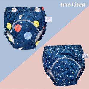2pc Shorts de couches pour bébé Pantalons formation réutilisables en coton Couches Lavables bébé lavables jupe couche-culotte adulte confortables enfants short 2020