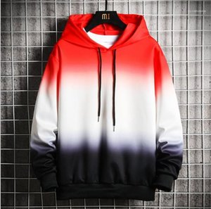 Teenager Sweatshirts Casual Spring Sports Males Clothing Fashion Cradient Color Loose Male Hoodies Designer Long Sleeve