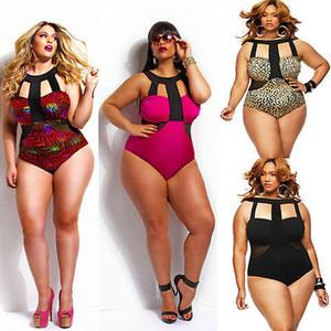 One Piece Swimsuit Swimwear 2020 Praia Hot Summer acolchoado Fat Bodysuit cintura alta Terno Swim vestir para senhora 4XL