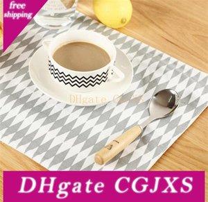 100% cotone di isolamento Pad semplice e generoso motivi geometrici Placemat 38 * 29 0,5 centimetri Classic Eat Mat creativo Strumento di cucina