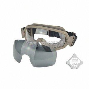 FMA Dark Earth Zwei Objektive Sonnenbrillen LPG01BK122R Regulator Goggle für Skilling Airsoft Spiel Radfahren Protektoren Radfahren 6oyT #